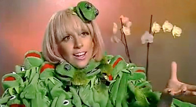 Lady Gaga Wears Kermit the Frog. Literally.